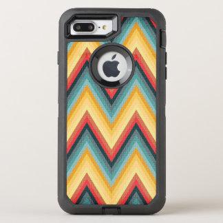Coque Otterbox Defender Pour iPhone 7 Plus Arrière - plan rayé 2 de zigzag