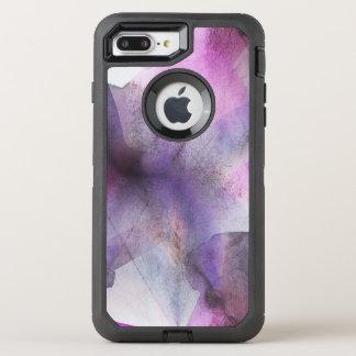 Coque Otterbox Defender Pour iPhone 7 Plus art abstrait pourpre de cubisme sans couture