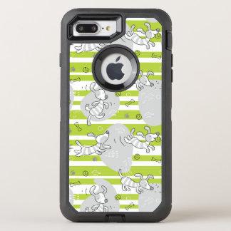 Coque Otterbox Defender Pour iPhone 7 Plus chien jouant l'arrière - plan de motif