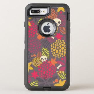 Coque Otterbox Defender Pour iPhone 7 Plus Crânes et fleurs