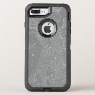 Coque Otterbox Defender Pour iPhone 7 Plus Croquis de carte de ville de Boston
