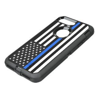 Coque Otterbox Defender Pour iPhone 7 Plus Drapeau américain mince de Blue Line