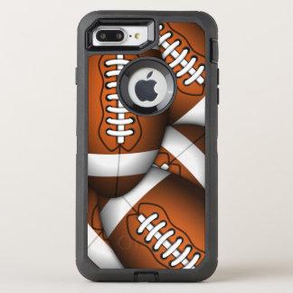 Coque Otterbox Defender Pour iPhone 7 Plus Football américain viril de motif des football