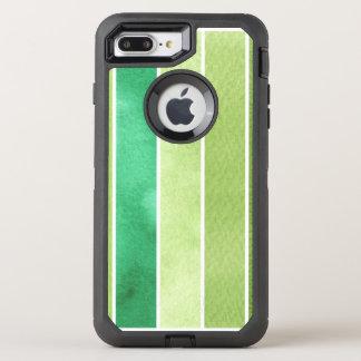 Coque Otterbox Defender Pour iPhone 7 Plus grand arrière - plan vert d'aquarelle - aquarelle