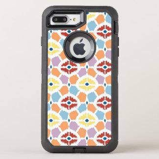 Coque Otterbox Defender Pour iPhone 7 Plus Ikat coloré de diamants géométrique