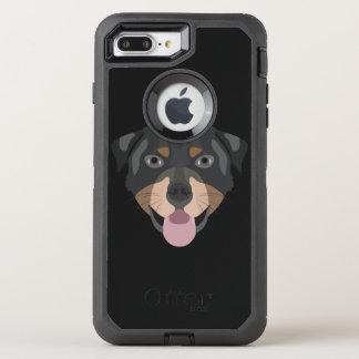 Coque Otterbox Defender Pour iPhone 7 Plus L'illustration poursuit le rottweiler de visage