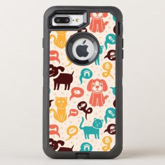 Coque Otterbox Defender Pour iPhone 7 Plus Motif avec les chats et les chiens drôles