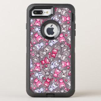 Coque Otterbox Defender Pour iPhone 7 Plus motif avec les chats mignons de griffonnage de