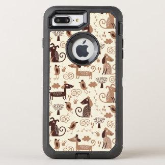 Coque Otterbox Defender Pour iPhone 7 Plus motif avec les chiens mignons
