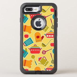 Coque Otterbox Defender Pour iPhone 7 Plus Motif coloré des ustensiles de cuisine