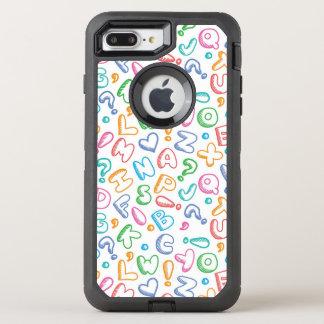 Coque Otterbox Defender Pour iPhone 7 Plus motif d'alphabet
