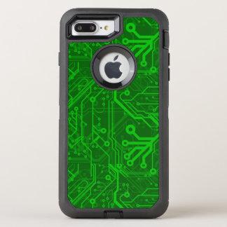 Coque Otterbox Defender Pour iPhone 7 Plus Motif de carte électronique de vert
