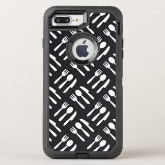 Coque Otterbox Defender Pour iPhone 7 Plus Motif de couteau de cuillère de fourchette