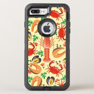 Coque Otterbox Defender Pour iPhone 7 Plus Motif de fruits de mer