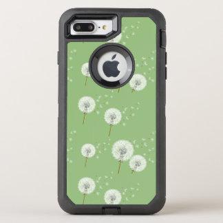 Coque Otterbox Defender Pour iPhone 7 Plus Motif de pissenlit sur l'arrière - plan vert