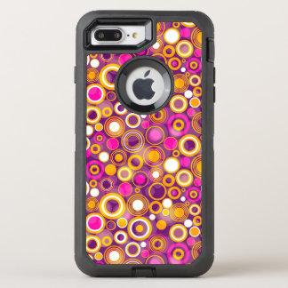 Coque Otterbox Defender Pour iPhone 7 Plus Motif de point violet de polka