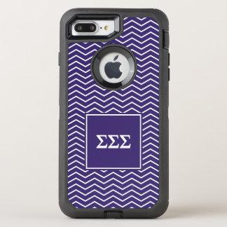Coque Otterbox Defender Pour iPhone 7 Plus Motif du sigma | Chevron de sigma de sigma