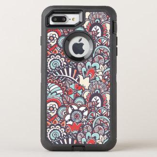 Coque Otterbox Defender Pour iPhone 7 Plus Motif floral de griffonnage de Paisley