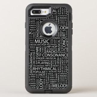 Coque Otterbox Defender Pour iPhone 7 Plus Nuage de mot de motif de MUSIQUE