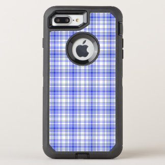 Coque Otterbox Defender Pour iPhone 7 Plus Plaid blanc bleu 2