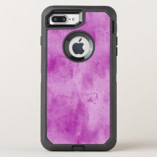 Coque Otterbox Defender Pour iPhone 7 Plus pourpre sans couture d'aquarelle de texture
