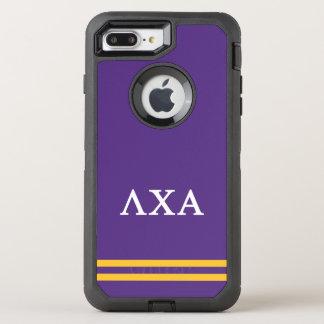 Coque Otterbox Defender Pour iPhone 7 Plus Rayure de sport de l'alpha | de Chi de lambda