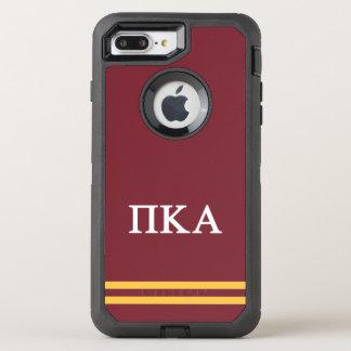 Coque Otterbox Defender Pour iPhone 7 Plus Rayure de sport de l'alpha | de Kappa de pi