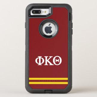 Coque Otterbox Defender Pour iPhone 7 Plus Rayure de sport du thêta | de Kappa de phi