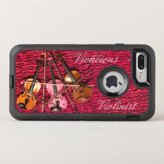 Coque Otterbox Defender Pour iPhone 7 Plus Violons roses personnalisables de violoniste