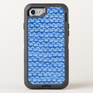 Coque Otterbox Defender Pour iPhone 7 Point de jarretière bleu de Knit