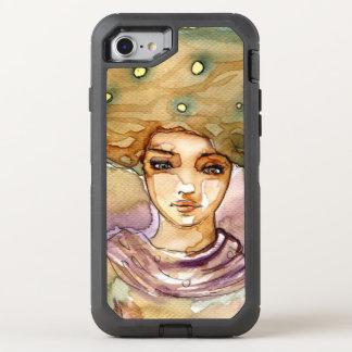 Coque Otterbox Defender Pour iPhone 7 Portrait abstrait et jolie femme