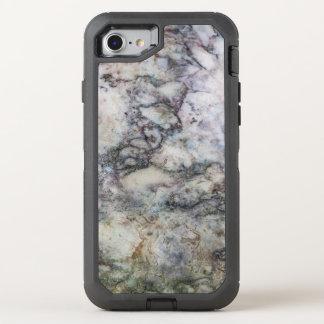 Coque Otterbox Defender Pour iPhone 7 Remous de marbre gris blanc