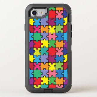 Coque Otterbox Defender Pour iPhone 7 Sensibilisation sur l'autisme colorée ASD de motif