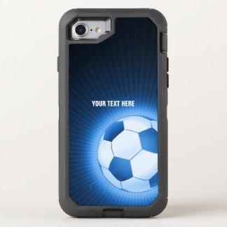 Coque Otterbox Defender Pour iPhone 7 Sport rougeoyant bleu du football du football |