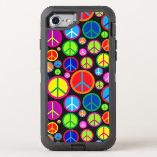 Coque Otterbox Defender Pour iPhone 7 Symboles de paix super colorés frais