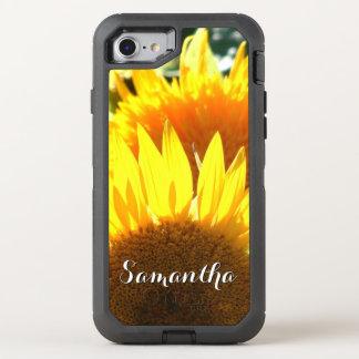 Coque Otterbox Defender Pour iPhone 7 Téléphone d'Otterbox de fleur de tournesol