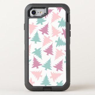 Coque Otterbox Defender Pour iPhone 7 Vert pourpre de rose en pastel de motif d'arbre de