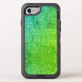 Coque Otterbox Defender Pour iPhone 7 Vitalité colorée lumineuse florale verte au néon