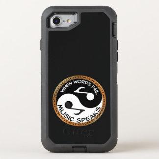 Coque Otterbox Defender Pour iPhone 7 Yin Yang avec des mots de musique