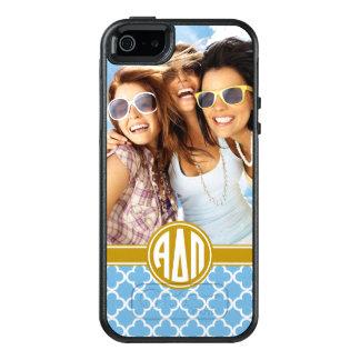 Coque OtterBox iPhone 5, 5s Et SE Alpha monogramme et photo du delta pi |
