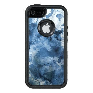 Coque OtterBox iPhone 5, 5s Et SE Arrière - plan bleu abstrait d'aquarelle