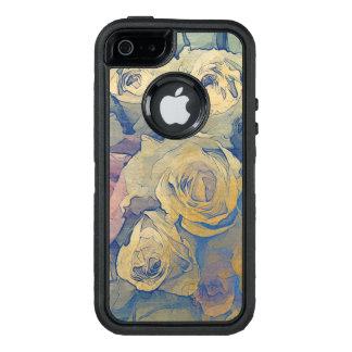 Coque OtterBox iPhone 5, 5s Et SE arrière - plan coloré vintage floral d'art