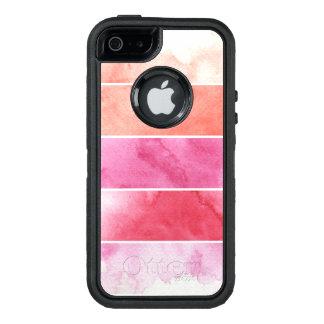 Coque OtterBox iPhone 5, 5s Et SE arrière - plan de bannières d'aquarelle pour votre