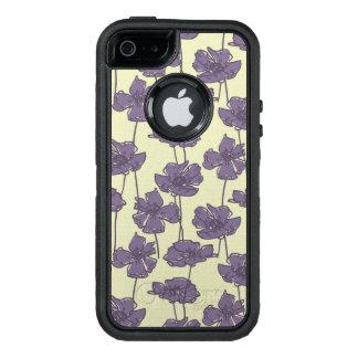 Coque OtterBox iPhone 5, 5s Et SE Arrière - plan floral vintage de motif d'art