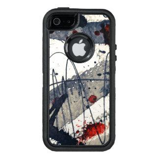 Coque OtterBox iPhone 5, 5s Et SE Arrière - plan grunge abstrait, texture d'encre