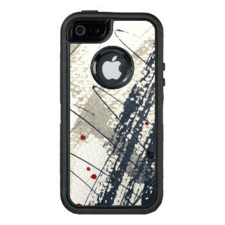 Coque OtterBox iPhone 5, 5s Et SE Arrière - plan grunge abstrait, texture d'encre. 2