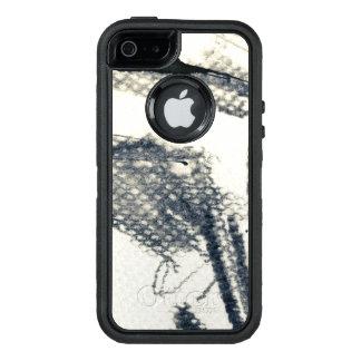 Coque OtterBox iPhone 5, 5s Et SE Arrière - plan grunge abstrait, texture d'encre. 3