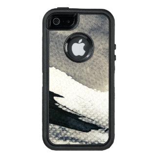 Coque OtterBox iPhone 5, 5s Et SE Arrière - plan grunge abstrait, texture d'encre. 4