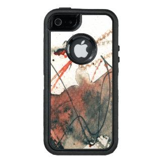 Coque OtterBox iPhone 5, 5s Et SE Arrière - plan grunge abstrait, texture d'encre. 5