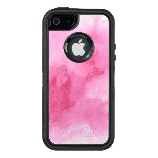 Coque OtterBox iPhone 5, 5s Et SE arrière - plan rose d'aquarelle pour le votre